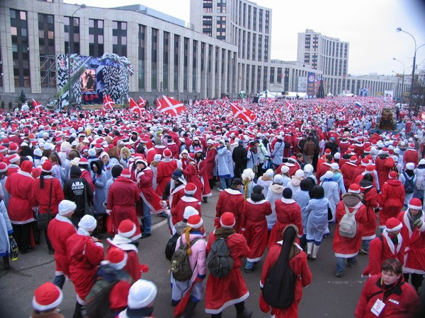 santa in Moscow
