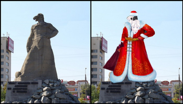 Russian Ded Moroz monument 14