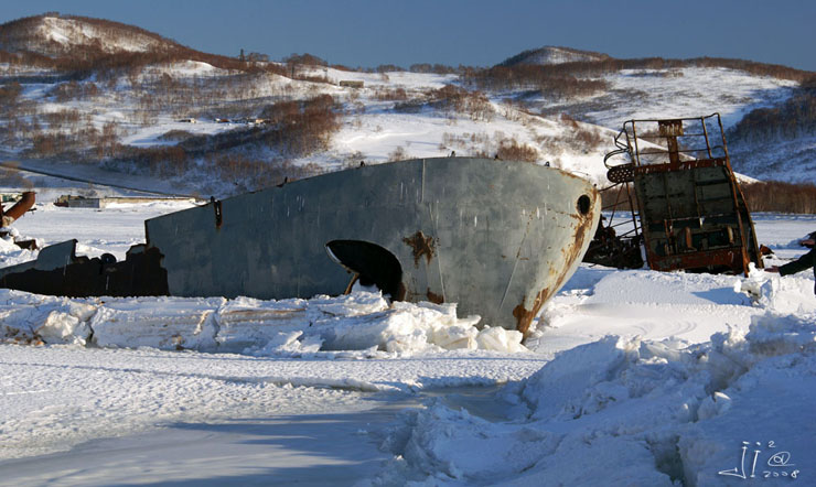 abandoned ships in  kamchatka, Russia 13