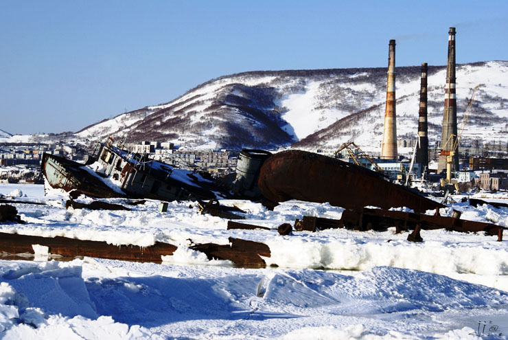 abandoned ships in  kamchatka, Russia 16