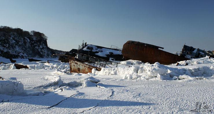 abandoned ships in  kamchatka, Russia 4