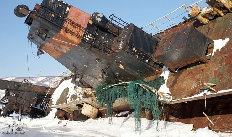 abandoned ships in  kamchatka, Russia 7
