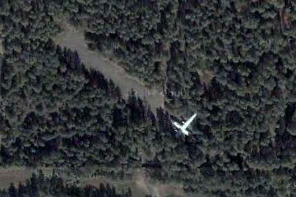 Russian plane shot down. It is AN-8 plane. 1