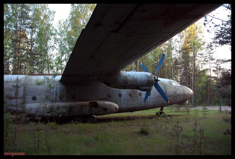 Russian plane shot down. It is AN-8 plane. 8