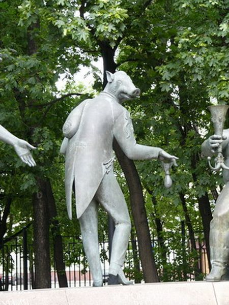 Russian monument with children and sin 4
