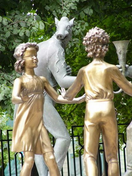 Russian monument with children and sin 6