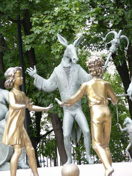 Russian monument with children and sin 10