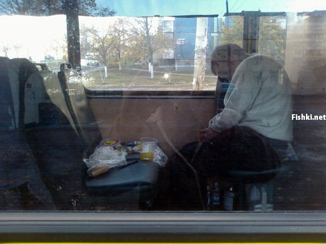 Russian driver sleeps in bus 1