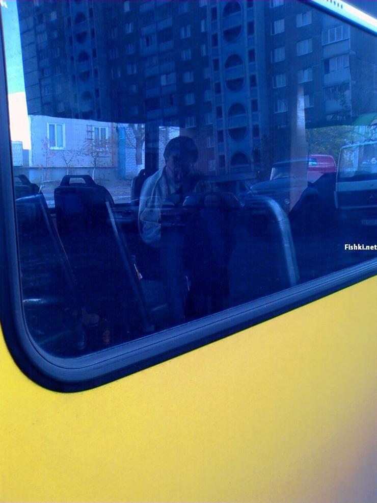 Russian driver sleeps in bus 13