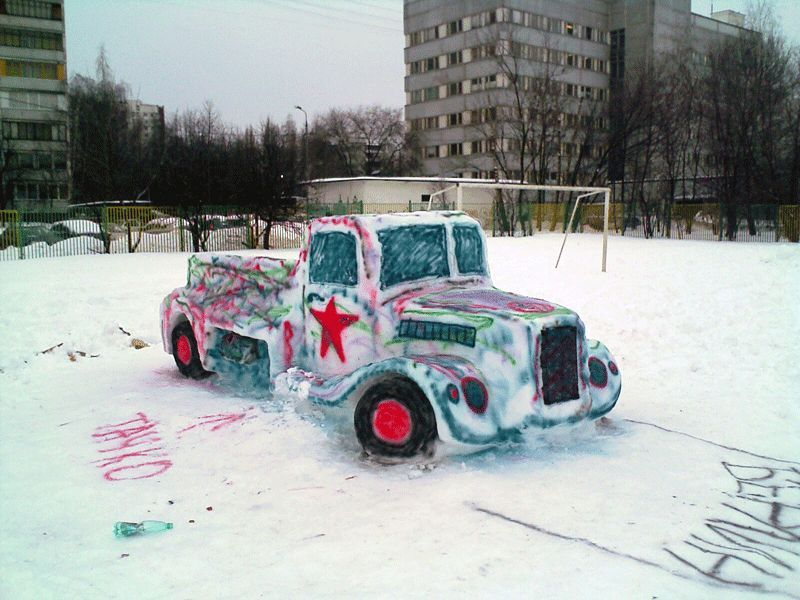 Snow Car in Russia