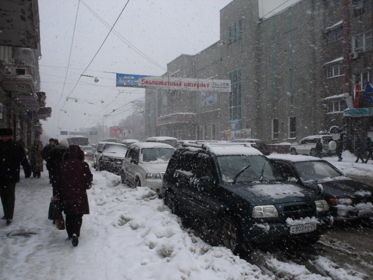 Snowy Vladivostok
