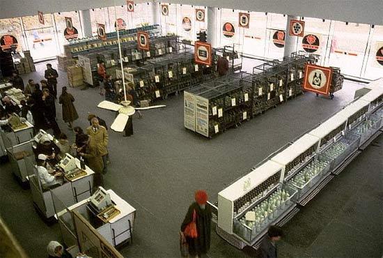 ¡Antes de la perestroika y  la perestroika en imágenes  estantes de supermercados! 18