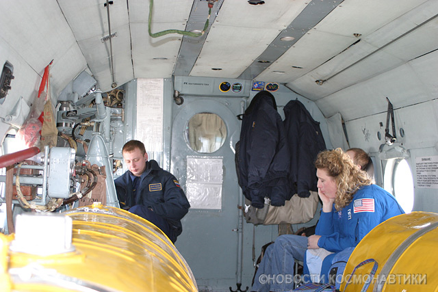 Russian spaceship landing site