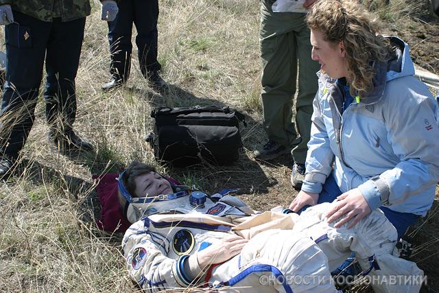 Russian spaceship landing site 15