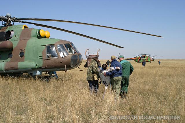 Russian spaceship landing site 18