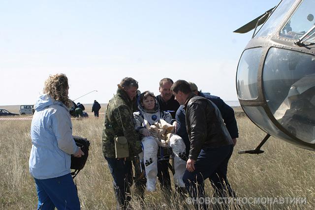 Russian spaceship landing site 25