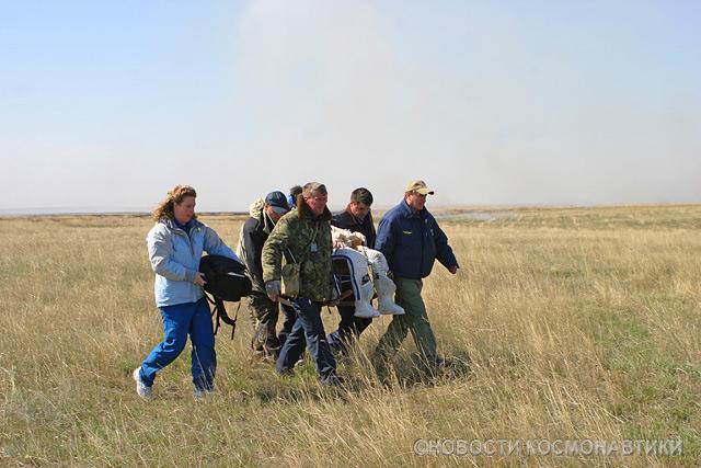Russian spaceship landing site 26