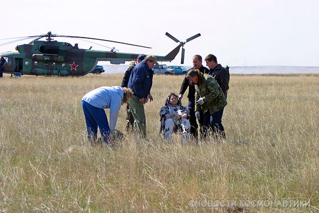 Russian spaceship landing site 27