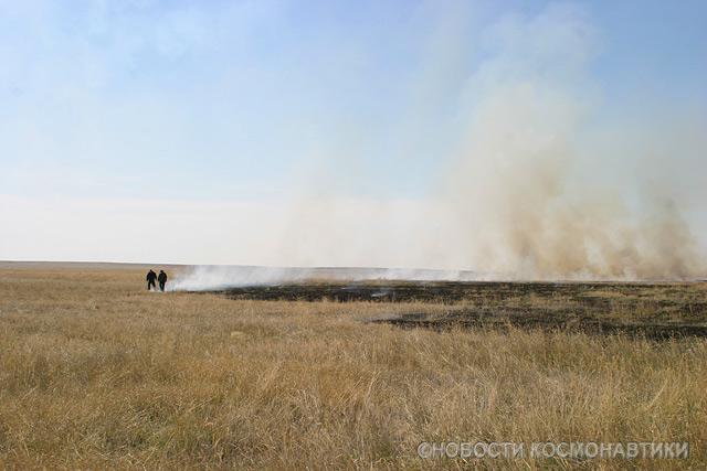Russian spaceship landing site 38