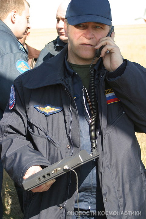 Russian spaceship landing site 43