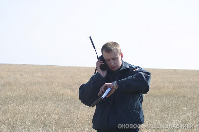Russian spaceship landing site 45