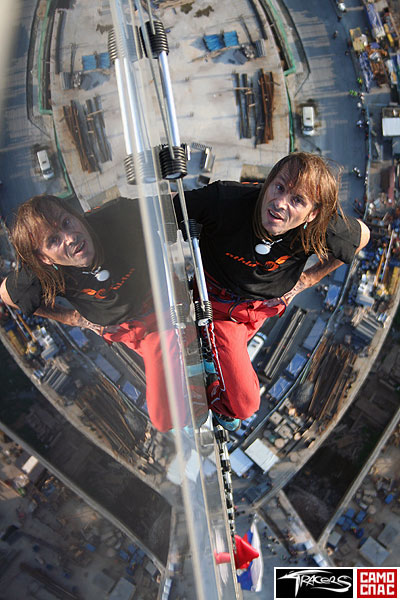 Alain Robert has conquered the federation tower in moscow 1