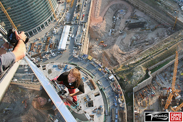 Alain Robert has conquered the federation tower in moscow 2