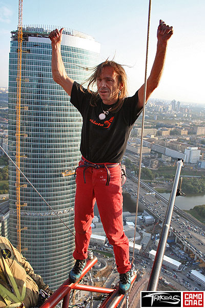 Alain Robert has conquered the federation tower in moscow 6
