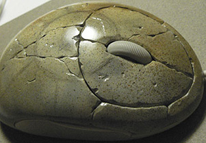 mouse made of stone
