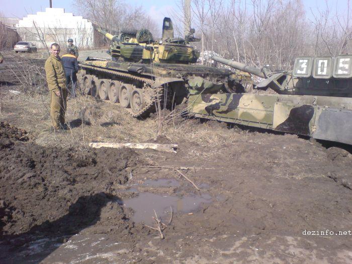 tank stuck in mud in Russia 2