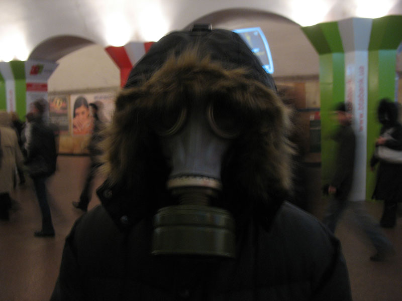 Russian masks craziness in Ukraine - with swine flu 6