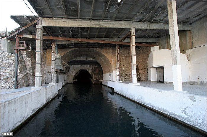 Russian Underground Submarine Base and Dock 14