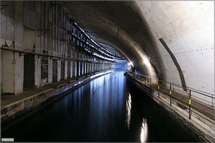 Russian Underground Submarine Base and Dock 18