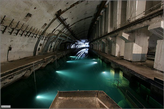 Russian Underground Submarine Base and Dock 19