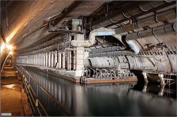 Russian Underground Submarine Base and Dock 20
