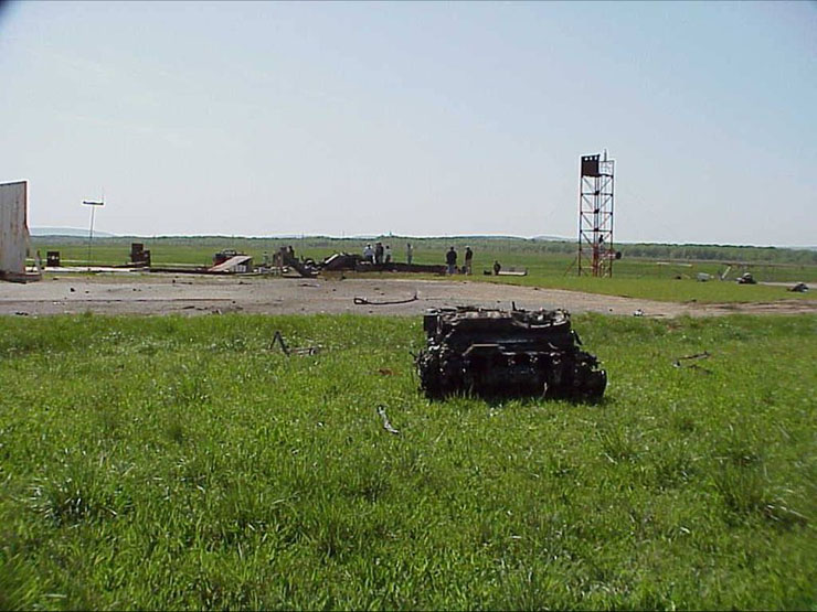Russian tank and Russian missile 6