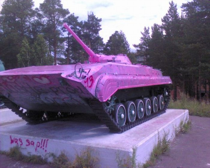 Tank Painted Pink 1