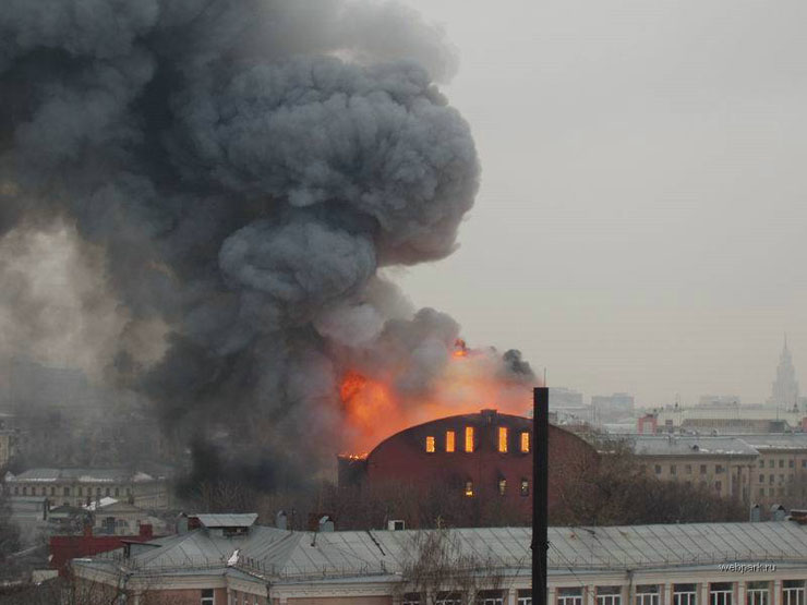 theater in Moscow, Russia is on fire 10