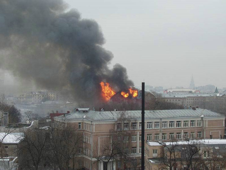 theater in Moscow, Russia is on fire 8