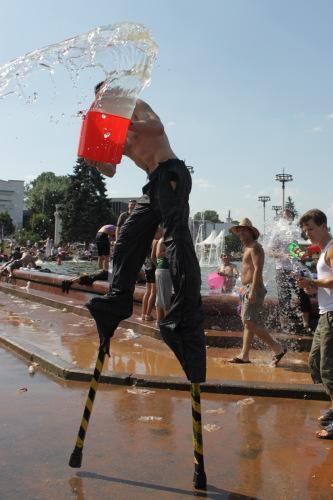 Water War on a Hot Summer Day