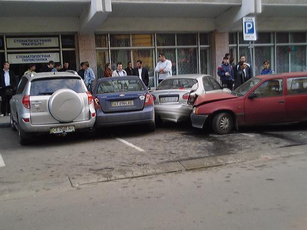 car hit three cars at once in Ukraine 1
