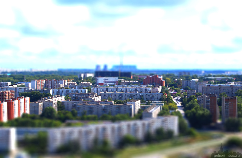 Tilt shift photos of Novosibirsk, Russia 1