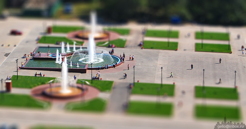 Tilt shift photos of Novosibirsk, Russia 2
