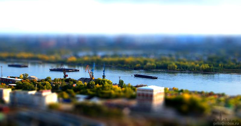 Tilt shift photos of Novosibirsk, Russia 6