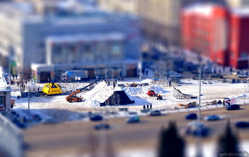 Tilt shift photos of Novosibirsk, Russia 8