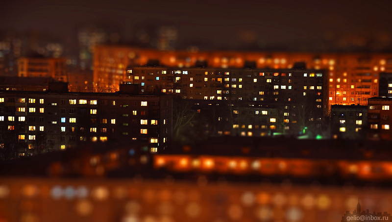 Tilt shift photos of Novosibirsk, Russia 9