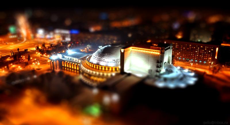 Tilt shift photos of Novosibirsk, Russia 13