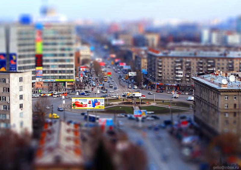Tilt shift photos of Novosibirsk, Russia 15