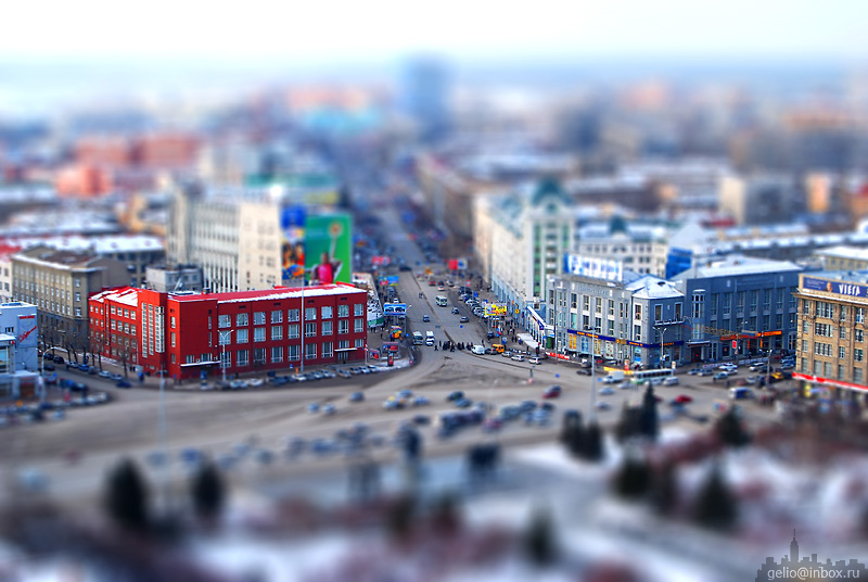 Tilt shift photos of Novosibirsk, Russia 19