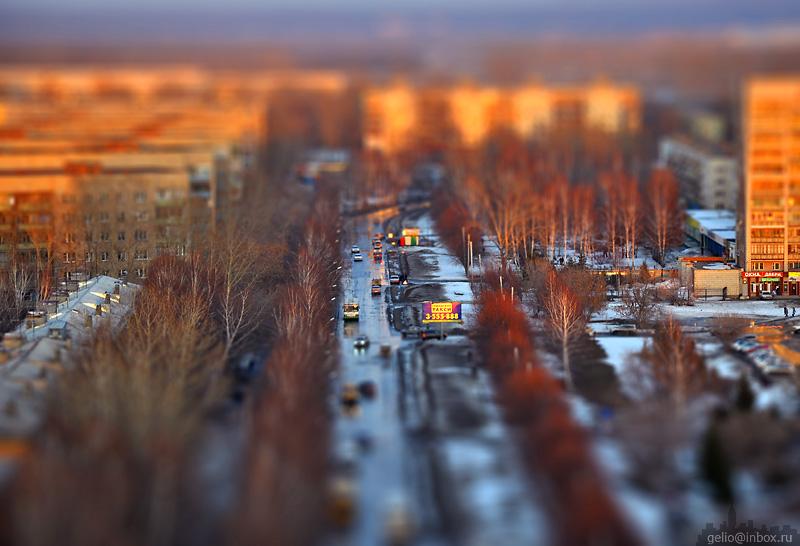 Tilt shift photos of Novosibirsk, Russia 24